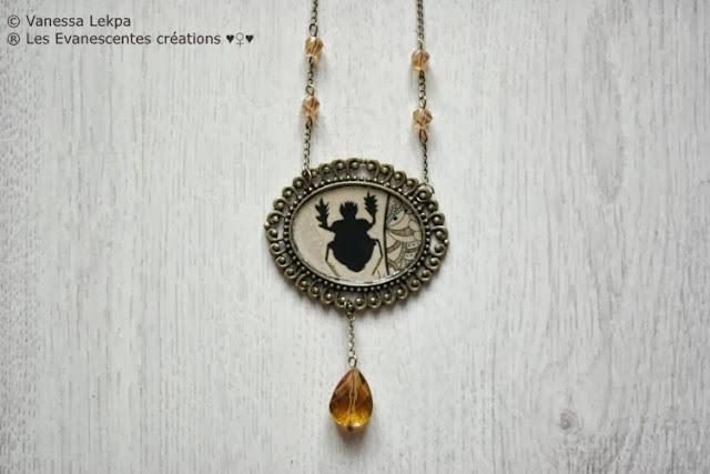 bijoux halloween samhain piece uniuqe magie talisman insectes cristal sorcière costume
