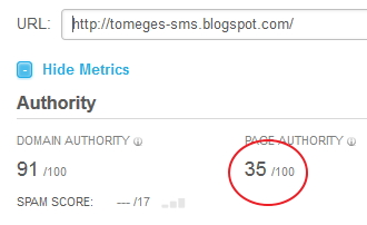 MOZ Page Authority - Keresőmarketing érték