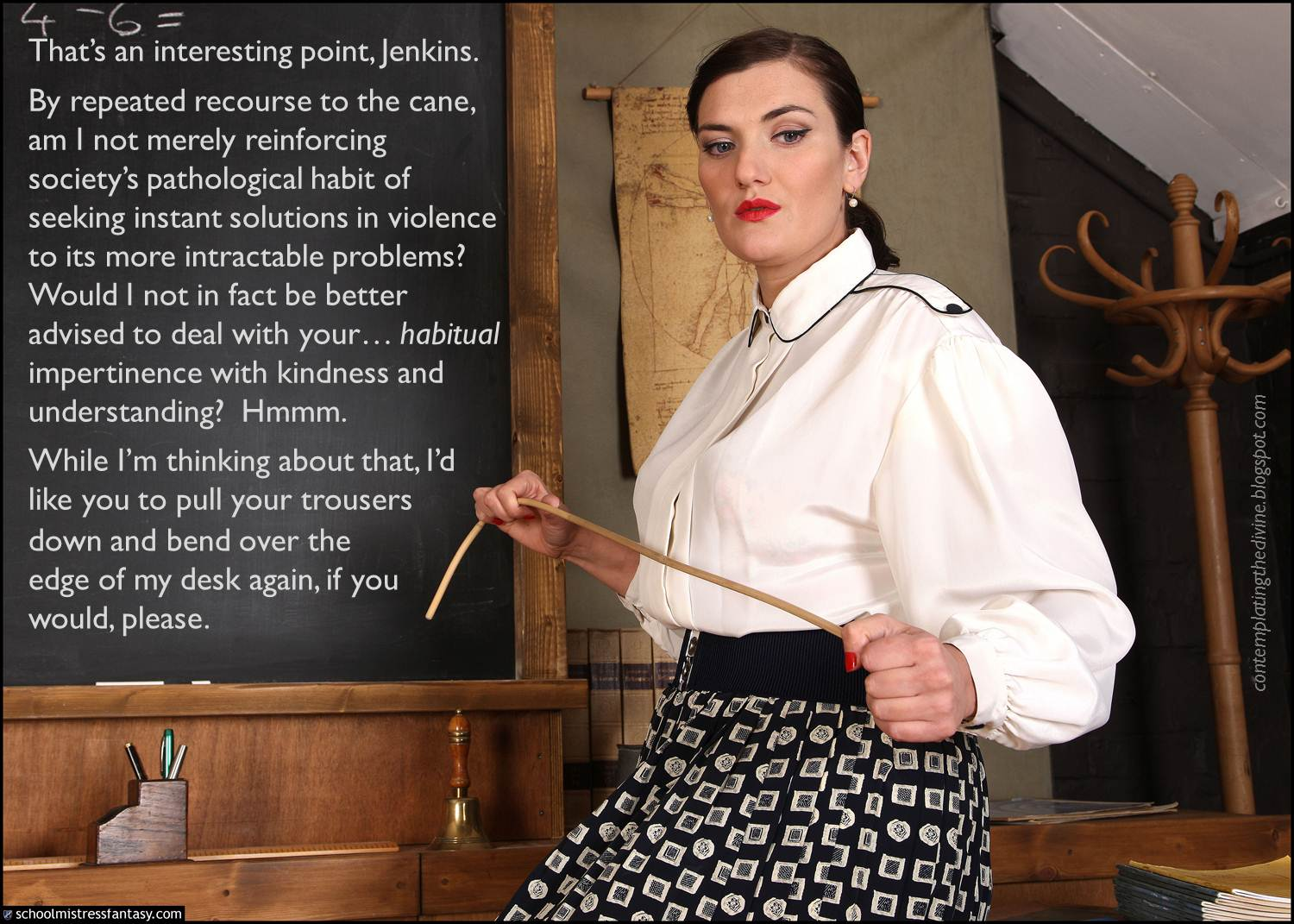 Excessive femdom caning