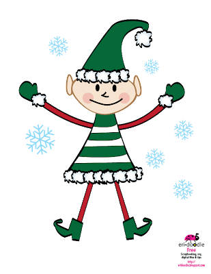 a little green Christmas elf scrapbooking free download