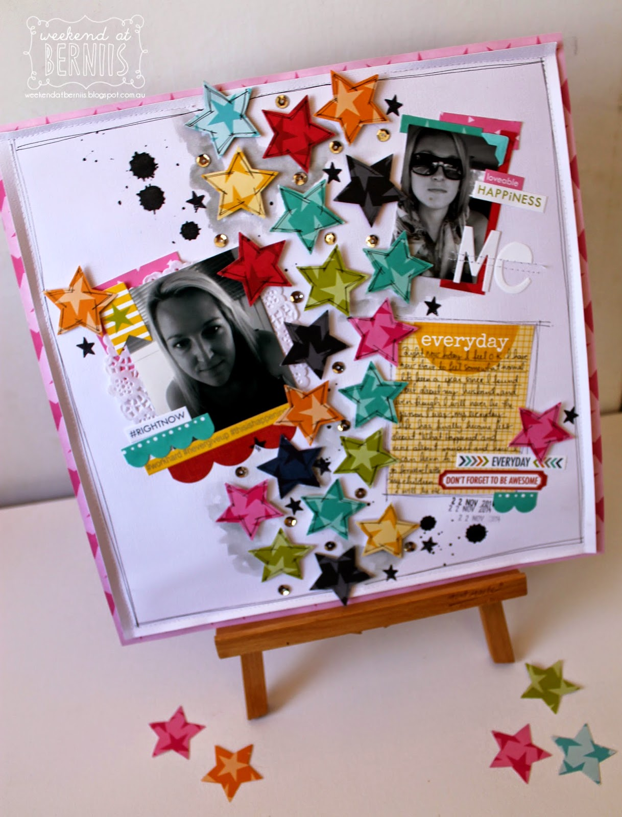 """Me "" layout by Bernii Miller using Bella Blvd Lucky Stars collection"