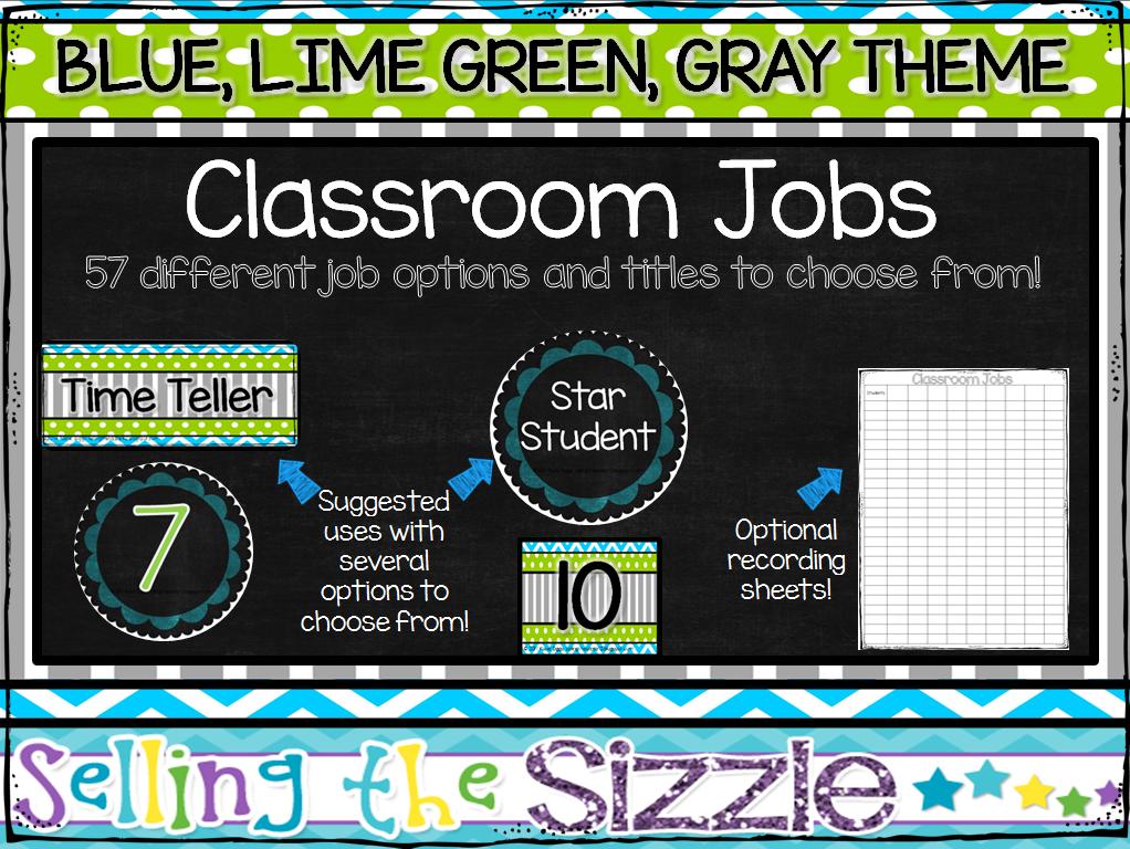 http://www.teacherspayteachers.com/Product/Classroom-Jobs-Set-Blue-Lime-Green-Gray-Themed-1317171