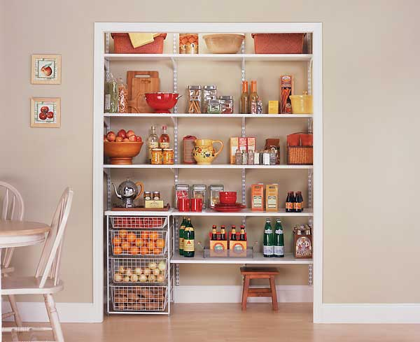 Dr house cleaning cleaners from the pantry - Pantry storage shelving ideas ...