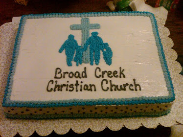 cake for Friend's Meal at church