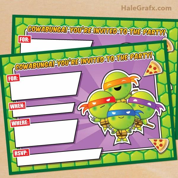 Kit de las Tortugas Ninja para Imprimir Gratis.   Ideas y ...