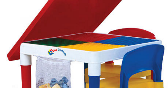 Tot tutors 2 in 1 play table and chair set free for Super table ld 99