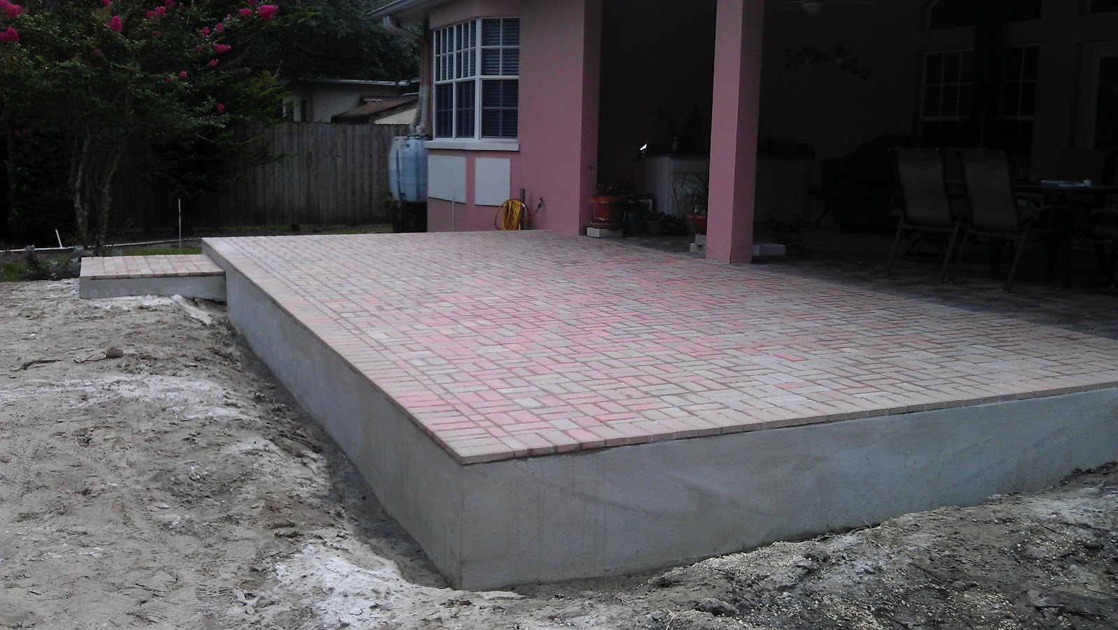 Thin Overlay Pavers New Patio Extension  Overlaythin Pavers  Temple Terrace Fl
