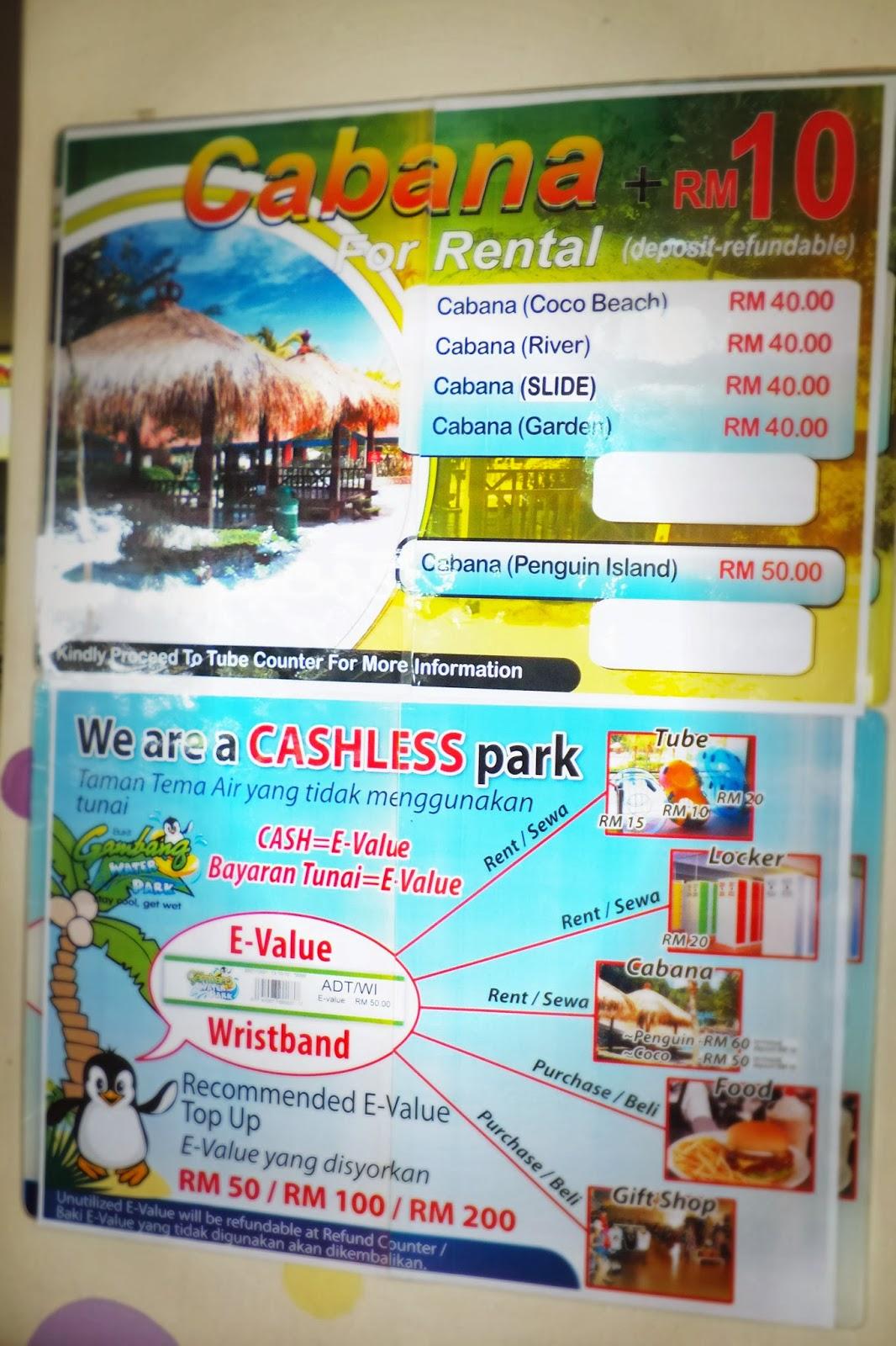 Bukit Gambang Water Park Ni Adalah Cashless