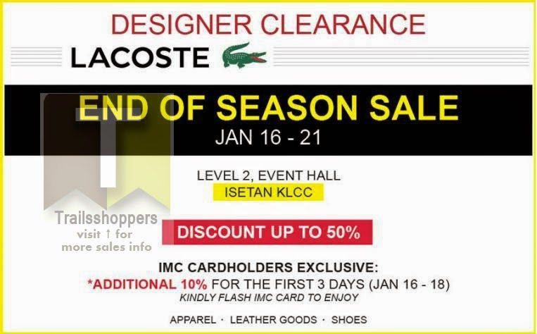 Designer Clearance LACOSTE discount up to 50%