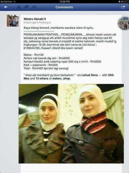Tawaran Harga Murah Kahwin Wanita Syria