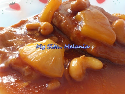 Lomo agridulce con piña y anacardos Lomo+agridulce+con+pi%C3%B1a+y+anacardos
