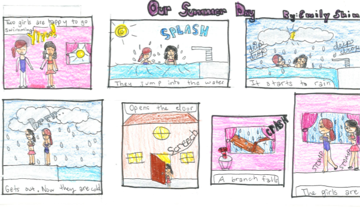 Life in the 4th Grade...: Comic Strips with Onomatopoeia