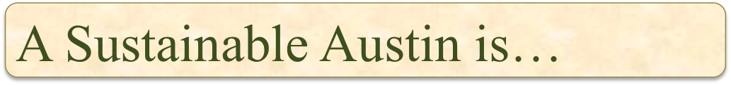 A Sustainable Austin