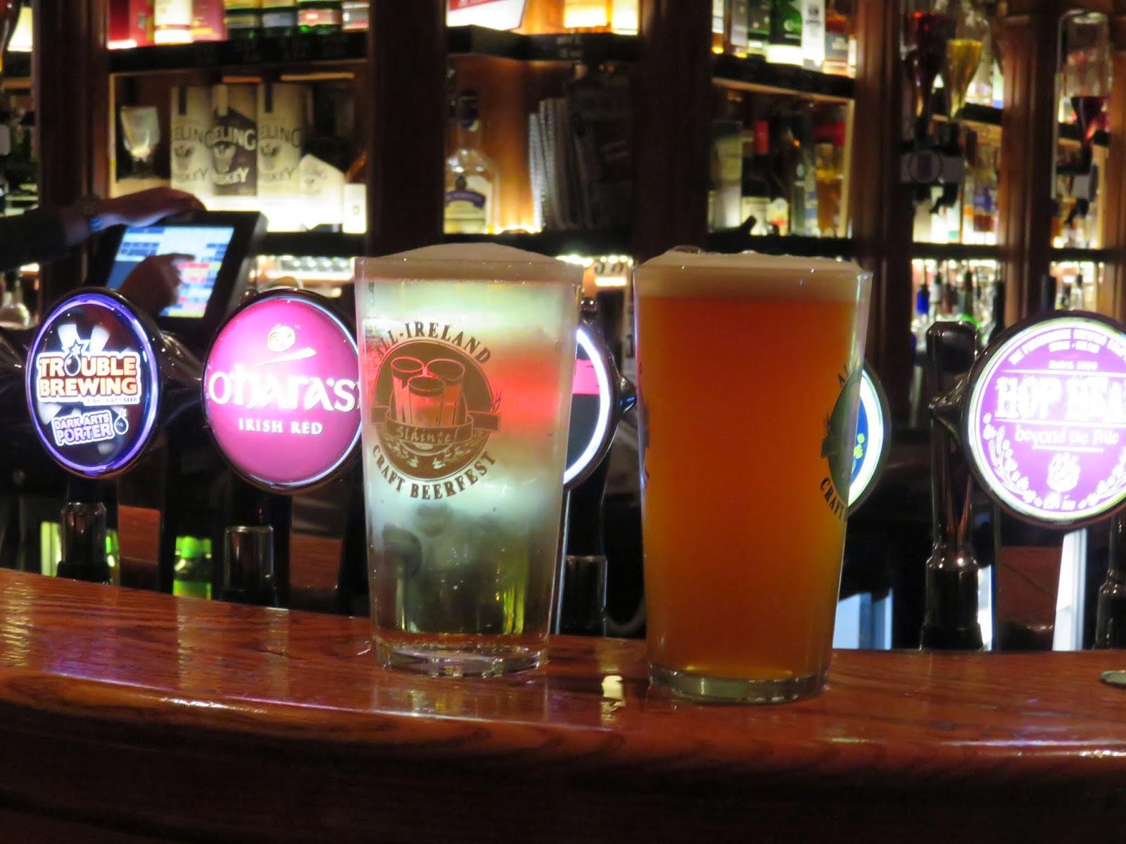 Irish Craft Beer Taps at 57 The Headline in Dublin