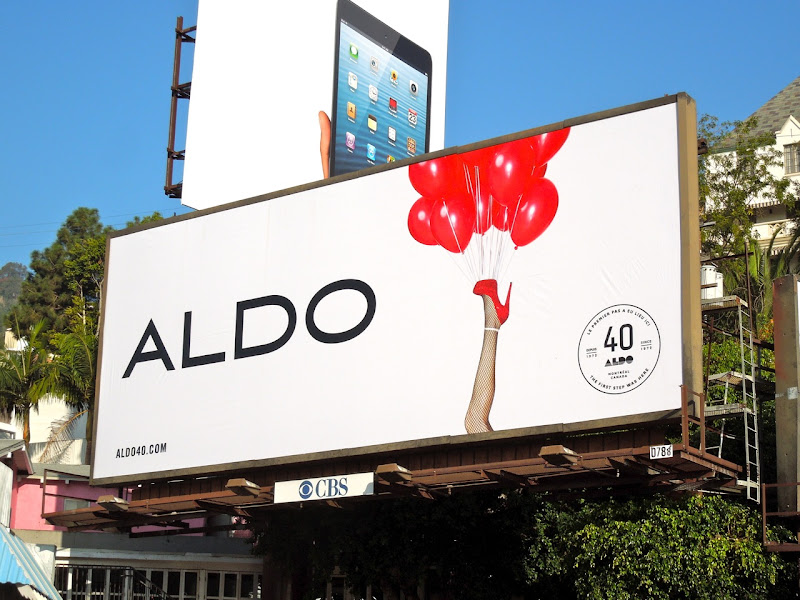 Aldo 40 years red balloons billboard