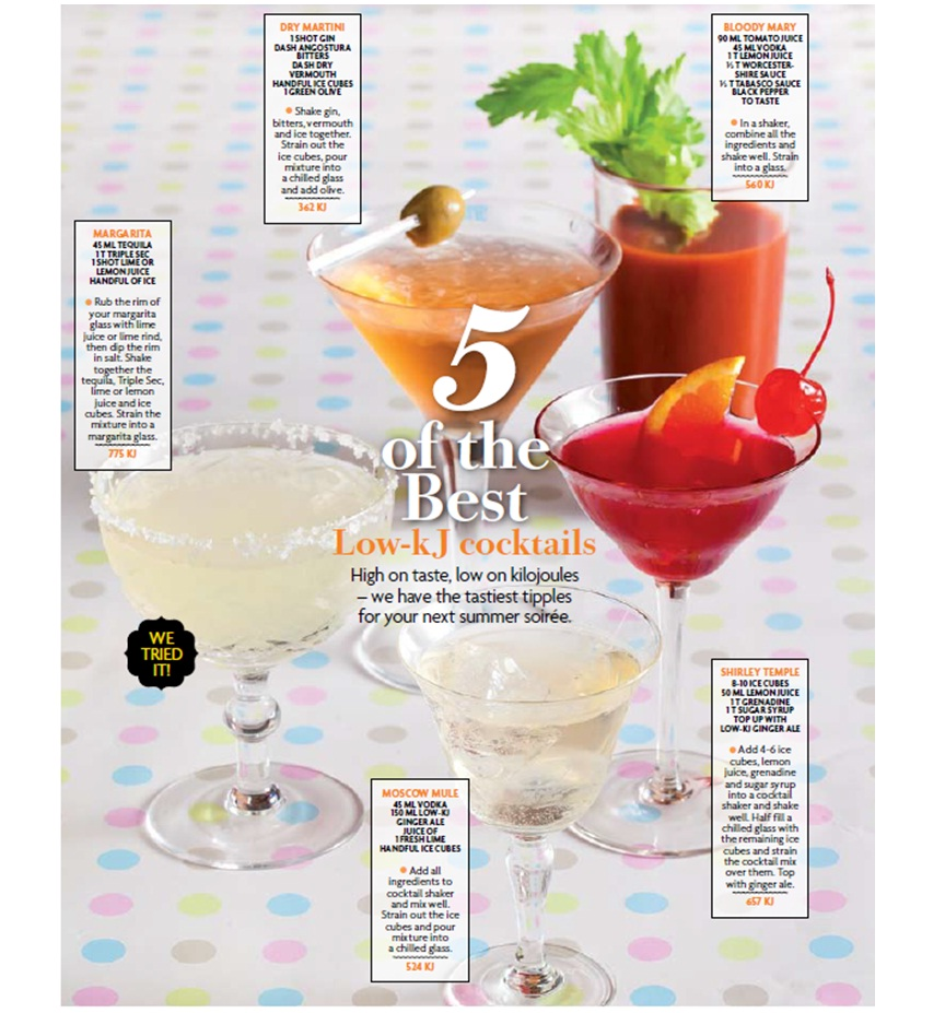 Good Life Dietitians 5 Of The Best Cocktails