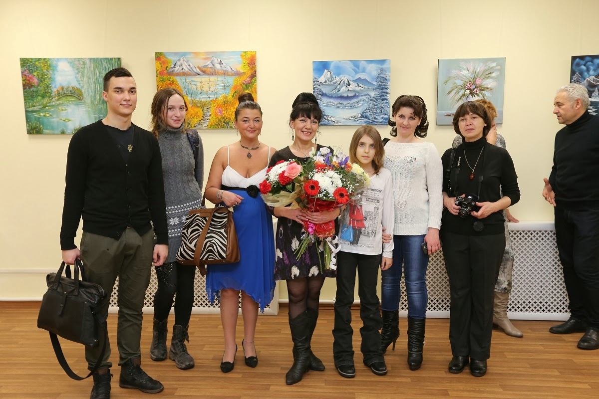 "My personal exposition of painting  ""The Travel of the Soul""  01/09/2014 in city Saint-Petersburg"