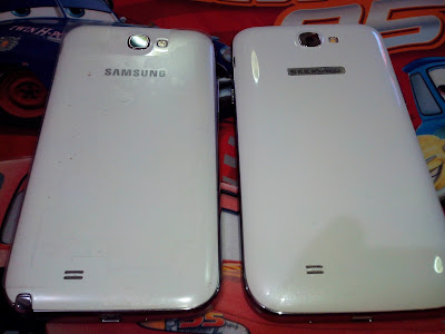Samsung Galaxy Note II & SKK Mobile Silver, Back