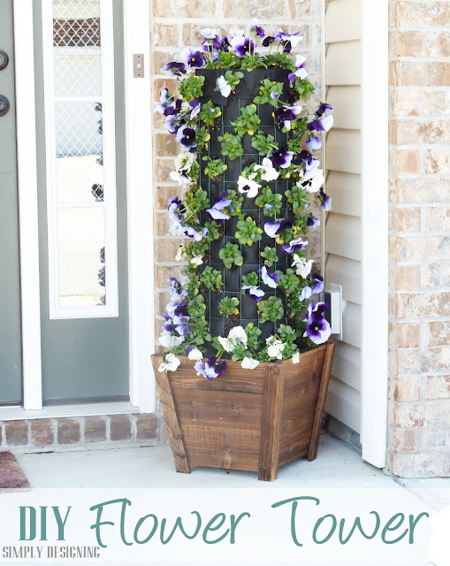 DIY Flower Tower, Simply Designing, #digin #heartoutdoors #spring #sponsored
