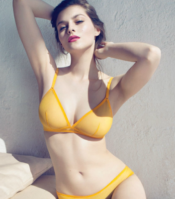 eres lingerie yellow sheer ss12