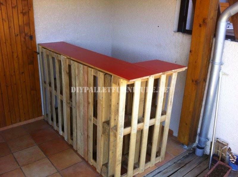 Bar caribe o construido con palets - Como hacer una barra con palets ...