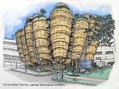 Dim sum basket building sketch - Nanyang Technological University