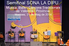 EL GRUP DE DANSES REPICÓ DE MANISES PARTICIPA EN LA SEMIFINAL DE SONA LA DIPU EL 31 DE MAIG 2014