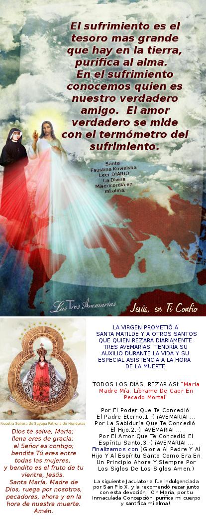 imagen de jesus y promesa de la madre de Dios