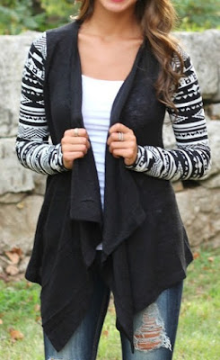 http://www.shein.com/Black-Geometric-Print-Drape-Front-Knit-Cardigan-p-228778-cat-1734.html