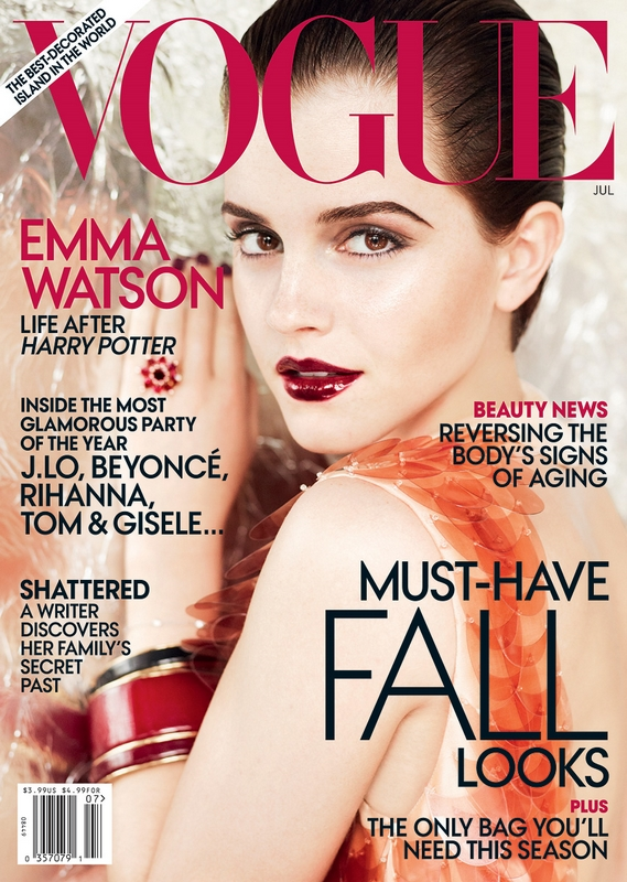 emma watson vogue 2011 us. VOGUE US July 2011 Cover