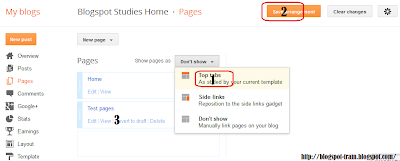 How Create Pages on Blogspot