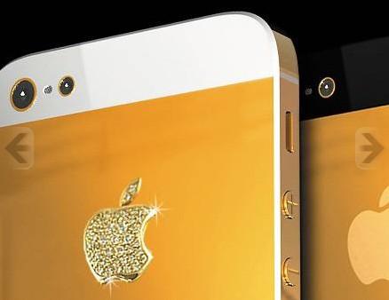 iPhone 5 en or massif Stuart Hugues
