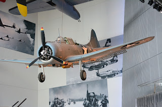 Douglas SBD dive bomber at World War II Museum in New Orleans