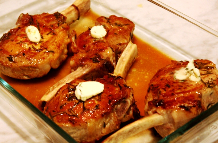 The Bestest Recipes Online: Veal Chops with Rosemary Butter