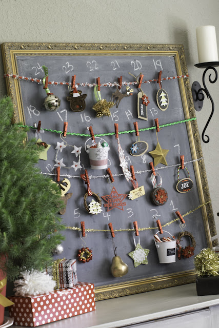 Christmas Ornament Chalkboard Advent Calendar