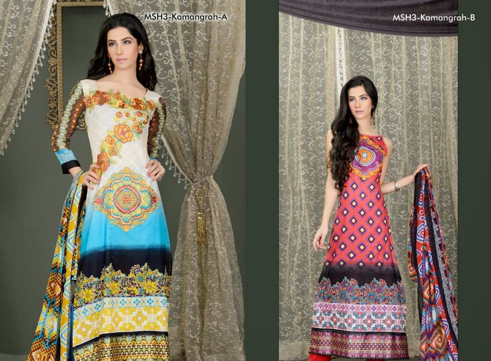 MashaalEmbroideredCollection2014VOL 03ByLalaTextile 3  - Mashaal Embroidered Collection 2014 VOL-3