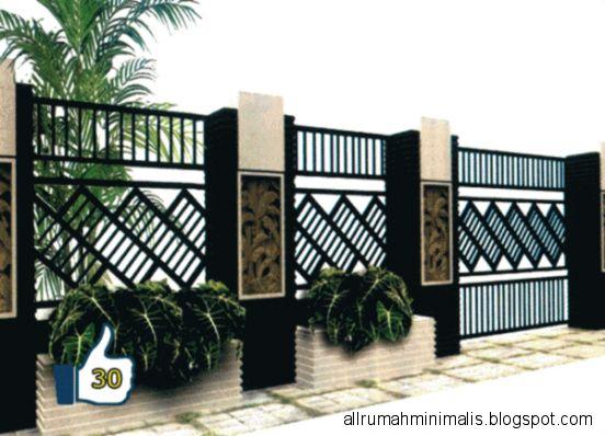 PAGAR RUMAH MINIMALIS  BESI TEMPA  Kanopi Rumah Minimalis