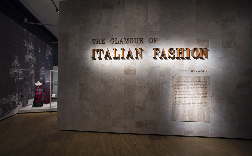 The glamour of italian fashion exhibition in V&A