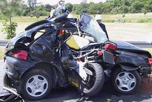 biker car crash