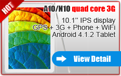 10.1'' HD 3G ANDROID TABLET PHONE