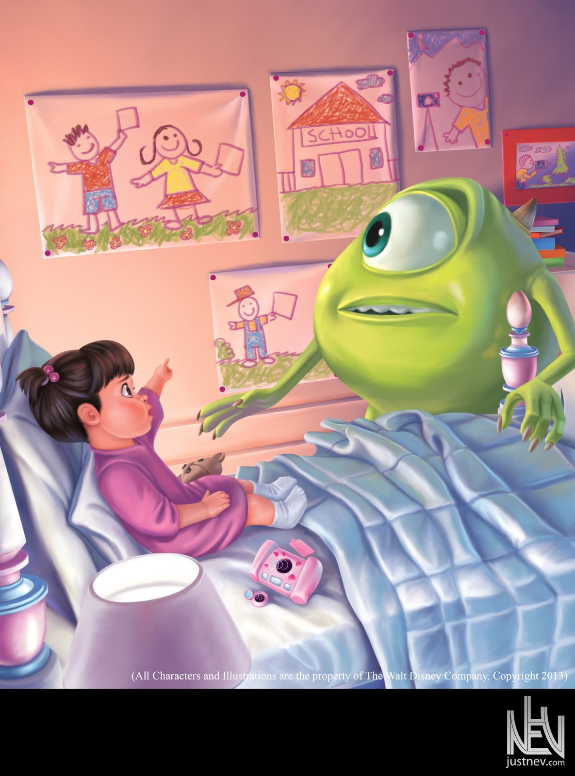 Illustrations: Monsters Inc. Digital (All Characters and ...