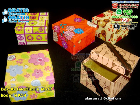 Box Kotak Cincin Motif Karton Kertas Bungkus