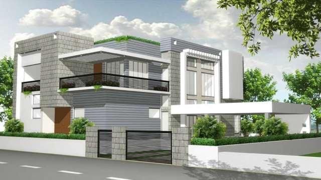 Modern homes front views terrace designs ideas Modern Home Designs