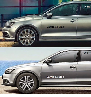 Side Comparison VW Jetta Facelift - New vs Old