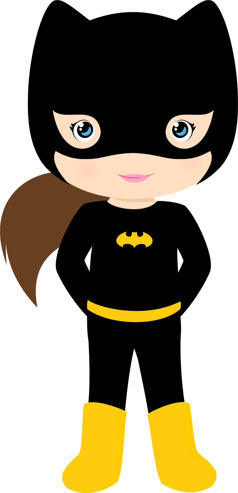 Characters Of Batman Kids Version Clip Art Oh My Fiesta