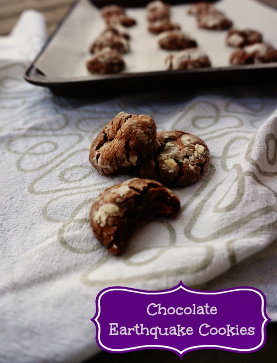 Featured Recipe | Chocolate Earthquake Cookies from The PinterTest Kitchen #recipe #cookies #chocolate #caramel #SecretRecipeClub