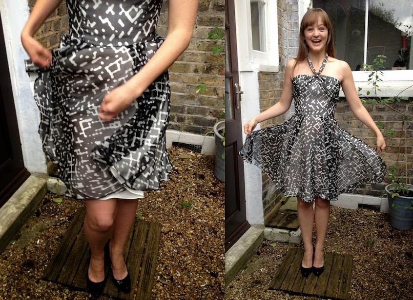 Diary of a Chain Stitcher: Mood Fabrics Oscar de la Renta Silk Chiffon Dress