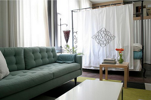 Some cheap room dividers for adding beauty to your - Room divider curtain ideas ...