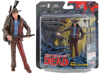 New York Comic-Con 2011 Exclusive Blood Splattered Rick Grimes The Walking Dead Action Figure and Packaging