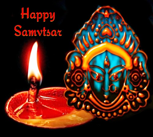 Happy Vikram Samvat sms messages wishes with hindu new year greeting image wallpaper in hindi english